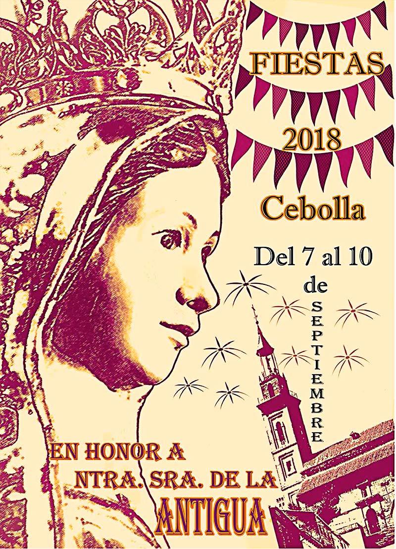 Programa de las fiestas en honor a Ntra. Sra. de la Antigua 2018 en Cebolla Cebolla_18_0