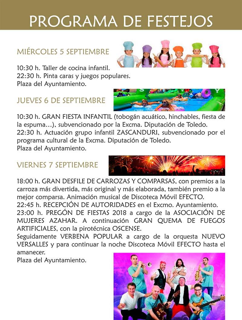 Programa de las fiestas en honor a Ntra. Sra. de la Antigua 2018 en Cebolla Cebolla_18_3