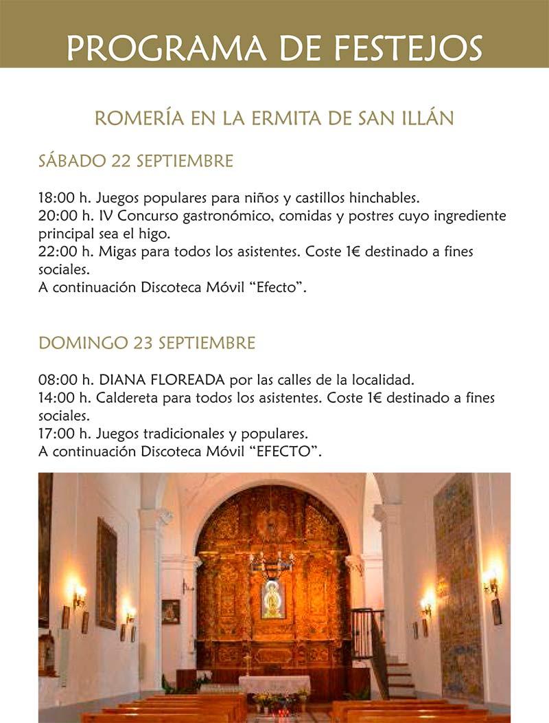 Programa de las fiestas en honor a Ntra. Sra. de la Antigua 2018 en Cebolla Cebolla_18_5