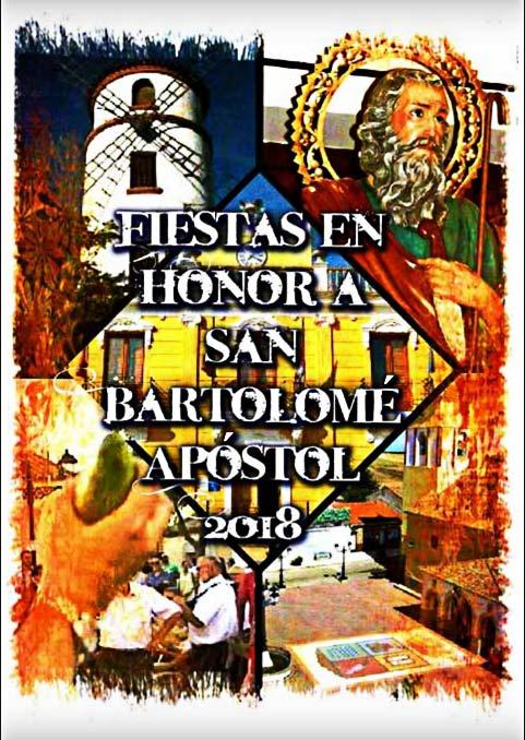 Programa de las fiestas en honor a San Bartolemé apóstol, del 23 al 26 de agosto de 2018, en San Bartolomé de las Abiertas Sanbar0