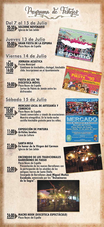 Programa de las Fiestas de Verano 2017 en honor al Stmo. Cristo de la Caridad en Santa Olalla (del 13 al 17 de julio del 2017) Santaollalla2017_1