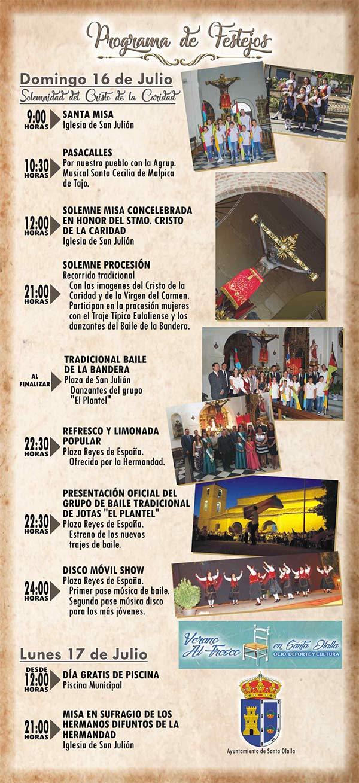 Programa de las Fiestas de Verano 2017 en honor al Stmo. Cristo de la Caridad en Santa Olalla (del 13 al 17 de julio del 2017) Santaollalla2017_2