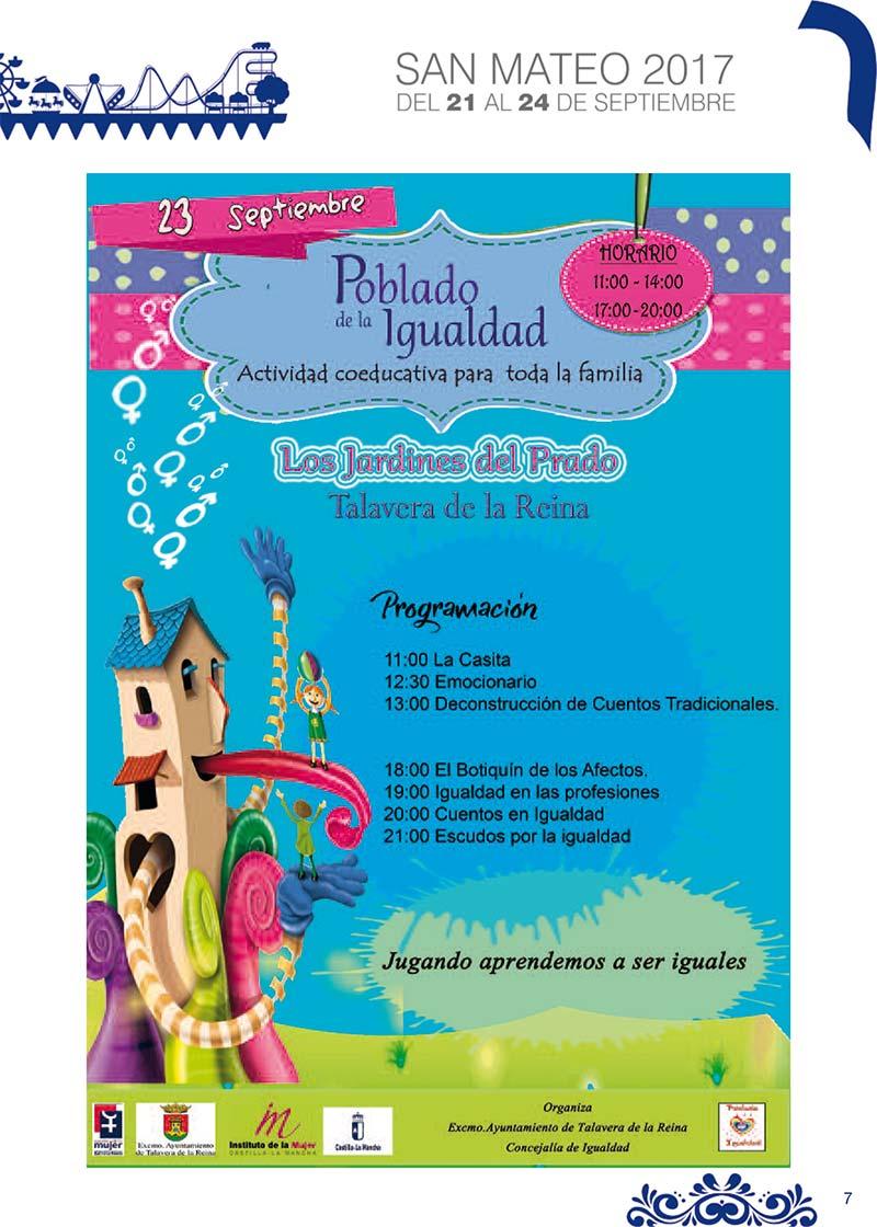 Fiestas Talavera 2017. Programa de las ferias en honor a San Mateo 2017 en Talavera de la Reina Talasanmateo2017_10