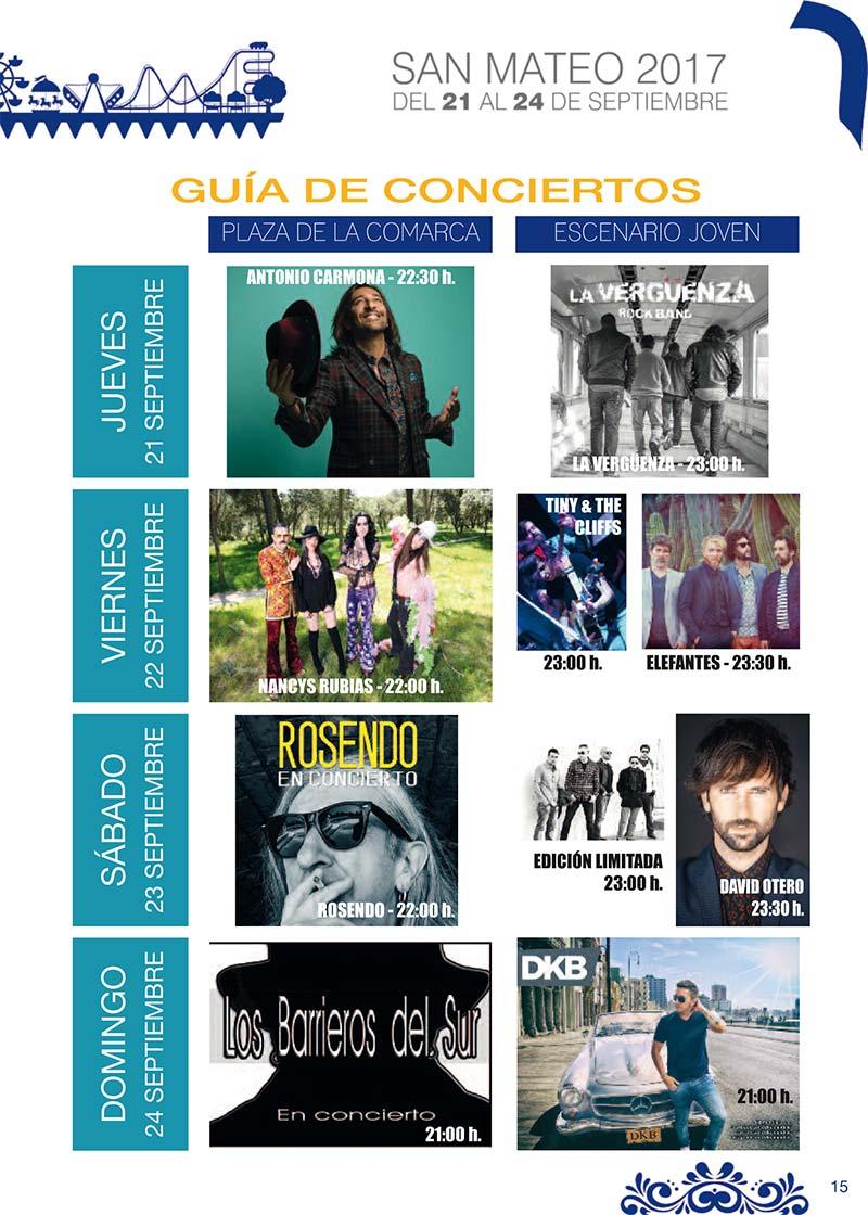 Fiestas Talavera 2017. Programa de las ferias en honor a San Mateo 2017 en Talavera de la Reina Talasanmateo2017_2
