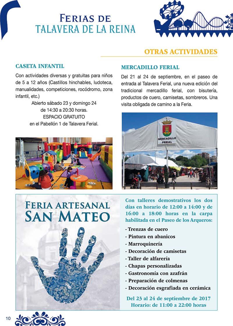 Fiestas Talavera 2017. Programa de las ferias en honor a San Mateo 2017 en Talavera de la Reina Talasanmateo2017_9