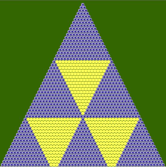 Fractal triángulo de Sierpinski